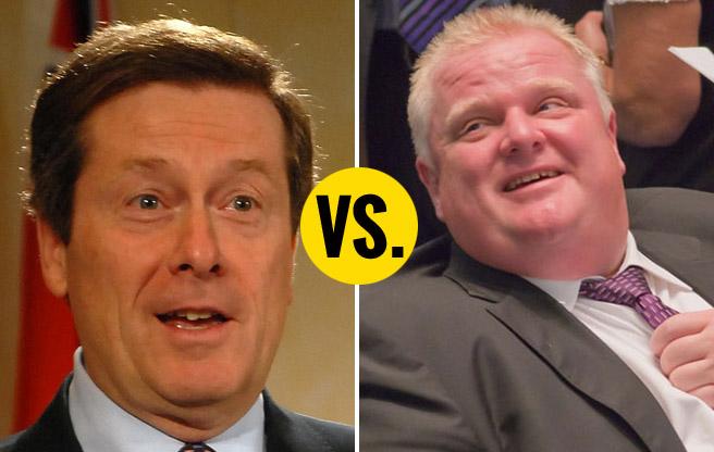 john-tory-versus-rob-ford