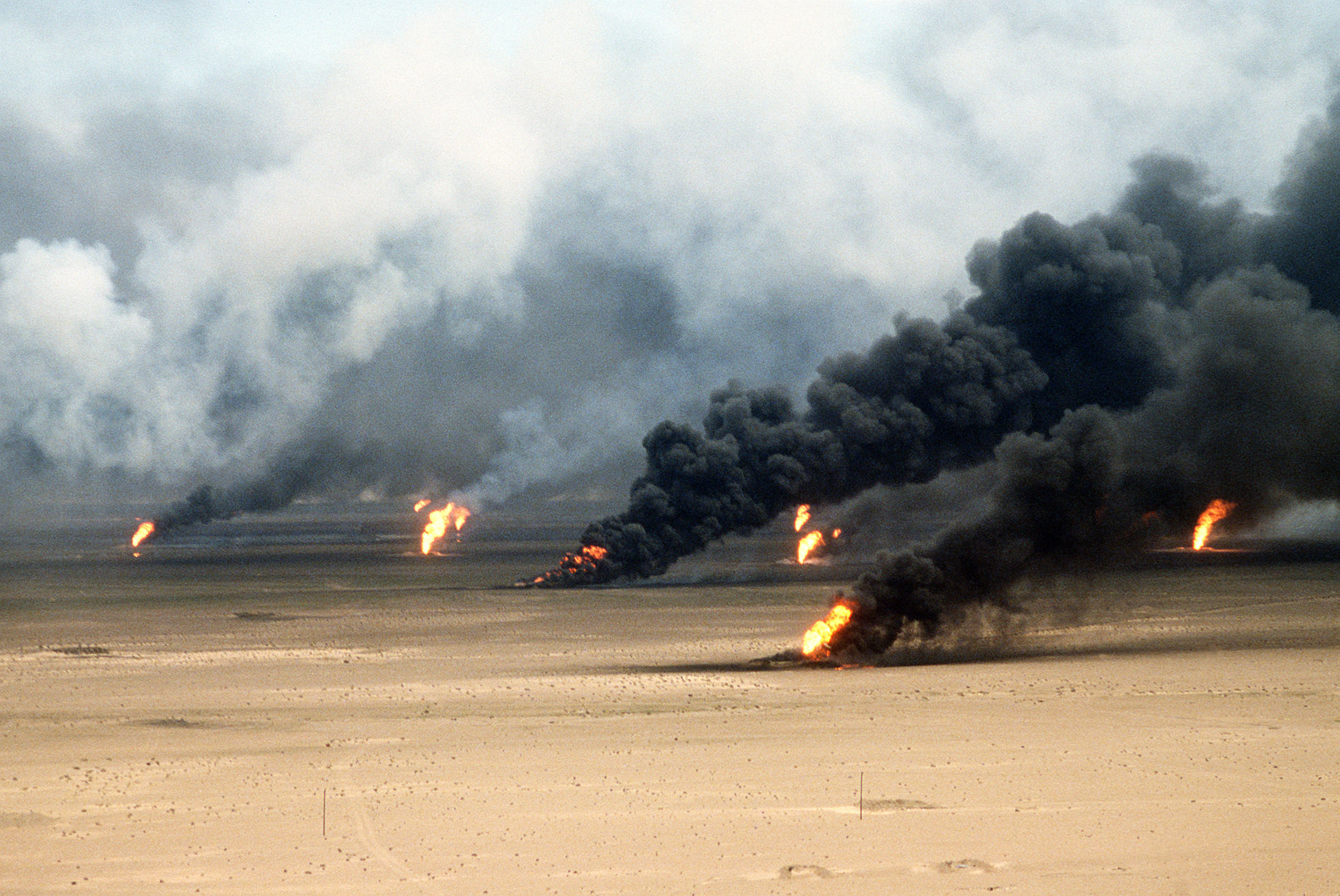Oil Wells Burning